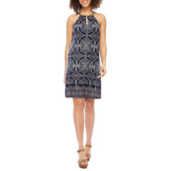 Luxology Sleeveless Trapeze Dress