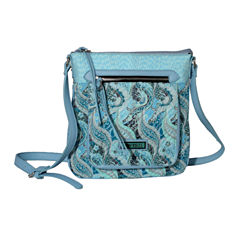 Waverly Swirled Paisley Duffle Tote Bag