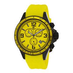 Oceanaut Baltica Mens Yellow Rubber Strap Watch