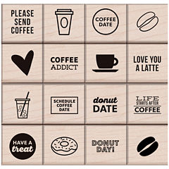Coffee & Donuts 16-pc. Stamp Set