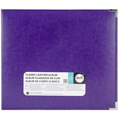 3-Ring Leather Album - Grape Soda