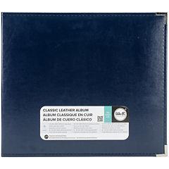 3-Ring Leather Album - Navy