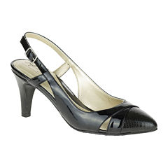 Soft Style® by Hush Puppies Rielle Leather Slingback Pumps