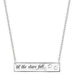 Bridge Jewelry Womens Silver Over Brass Pendant Necklace