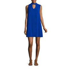 My Michelle Sleeveless Trapeze Dress-Juniors