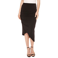 Bisou Bisou Crepe Assymetrical Skirt