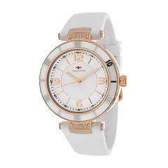 Seapro Seductive Ladies Silver Dial White Ceramic Strap Watch