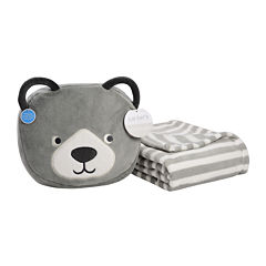 Carter's® On-the-Go Bear Plush Bag with Blanket