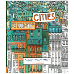 Chronicle Books Fantastic Cities Coloring Book