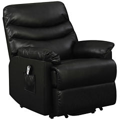 Robins Bonded Leather Lift Wall Hugger Recliner