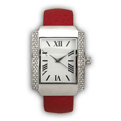 Olivia Pratt Womens Red Bangle Watch-15773
