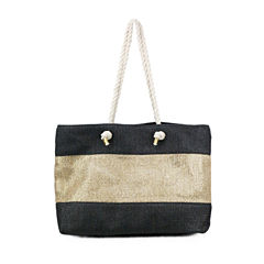 Olivia Miller Mckenna Metallic Stripe Tote Bag
