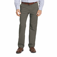 IZOD Big & Tall Sportflex Waistband Stretch Flat Front Chino Pant
