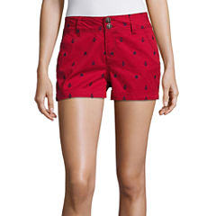 Wallflower Embroidered Shorts-Juniors