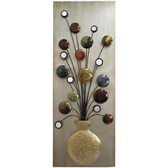 Flower Vase I Metal Wall Decor