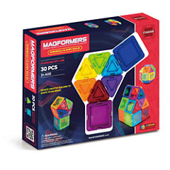 Magformers Solids Clear Rainbow 30 PC. Set