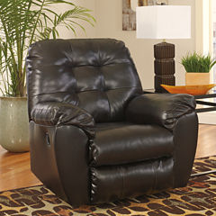 Signature Design by Ashley® Alliston Fabric Pad-Arm Recliner