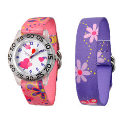 Red Balloon™ Girls' Pink & Purple Interchangeable Watch Set