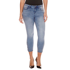 Bisou Bisou Side Lace Up Crop Skinny Jeans