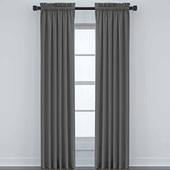 JCPenney Home Made-To-Length Linen Rod-Pocket Blackout Lined Curtain Panel