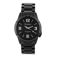 Armitron® All Sport Mens Black Stainless Steel Bracelet Watch