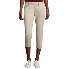 Arizona Schoolgirl Cropped Pants-Juniors