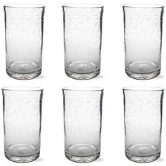Tag Bubble Glass Set of 6 Tumbler Glasses