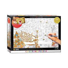 Eurographics Inc Color-Me Puzzle - Gustav Klimt'sTree Of Life: 300 Pcs