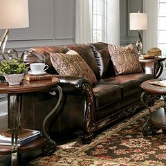 Signature Design By Ashley® Vanceton Faux Leather Sofa