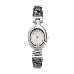 Olivia Pratt Womens Silver Tone Bangle Watch-10022