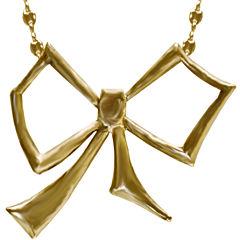 dom by dominique cohen Gold-Tone Bow Pendant Necklace