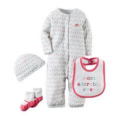 Carter's® 4-pc. Pink Geo-Print Layette Set - Baby Girls newborn-24m