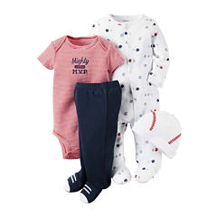 Carter's® 4-pc. Red Baseball Layette Set - Baby Boys newborn-24m
