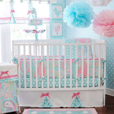 my baby sam pixie baby in aqua 3pc crib bedding set - Crib Sheets