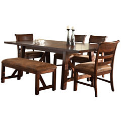 Bear River 6-pc. Dining Table Set