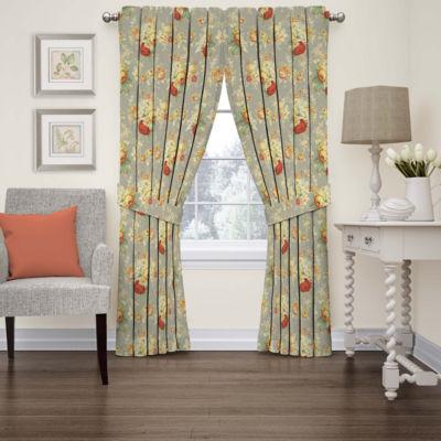 sanctuary rose rodpocket curtain panel - 63 Inch Curtains
