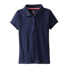 U.S. Polo Assn.® Short-Sleeve Stretch Knit Polo - Girls 7-16