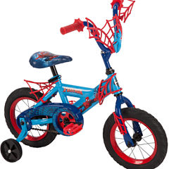 Huffy Marvel Spider-Man 12In Bike with WebTrap Handlebar Plaque