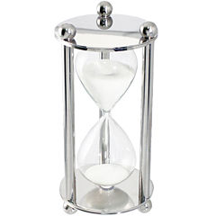 Natico Silver Polished Hourglass