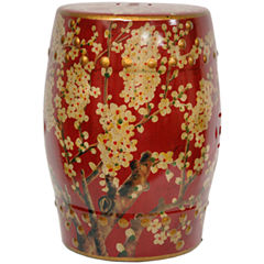 Oriental Furniture Sakura Blossom Patio Garden Stool