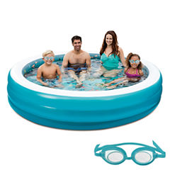 Blue Wave 3D Inflatable 7.5-ft Round Family Pool
