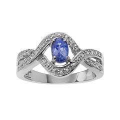 Genuine Purple Tanzanite Sterling Silver Ring