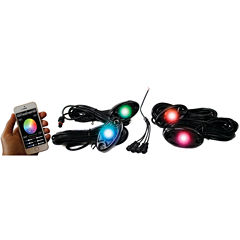 Race Sport Inc. RSLD4KITCS ColorSMART Smartphone-Controlled 4-LED Glow Pod Undercarriage Kit