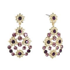 Monet Jewelry Purple Drop Earrings