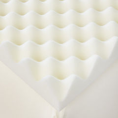 Restful Solutions Deluxe Textured 2 Inch Memory Foam Topper