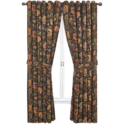 waverly imperial dress rodpocket curtain panel with tieback - 63 Inch Curtains