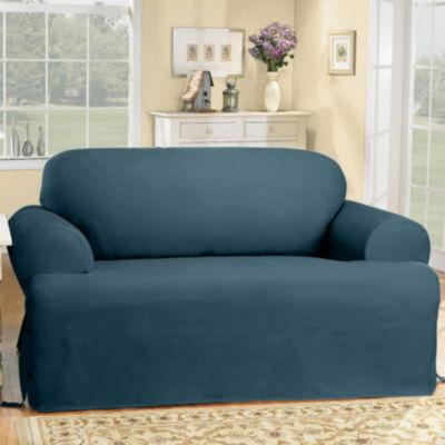 sure fit cotton duck tcushion sofa slipcover