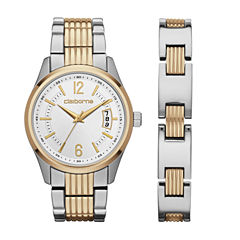 Liz Claiborne Mens Two Tone 2-pc. Watch Boxed Set-Clm9009