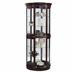 Home Meridian Half Curio Curio Cabinet