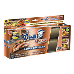 As Seen On TV Yoshi Copper Grill & Bake Mats - 2 Pack